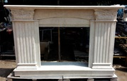 TRAVERTINELIGHT Marble fireplace