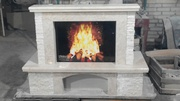 Fiore beige - marble fireplace